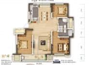 D1户型-3室2厅2卫
