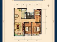 三室两厅一卫105平
