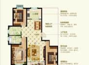 D1户型三室两厅两卫143.86平