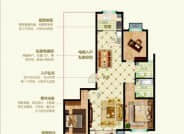 D2户型三室两厅两卫133.06平