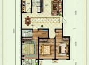 德州紫东苑户型C三室两厅142平