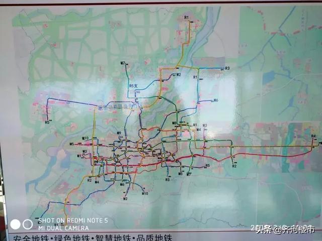 济南地铁规划图最新流出,到齐河的R5这回更清晰了!